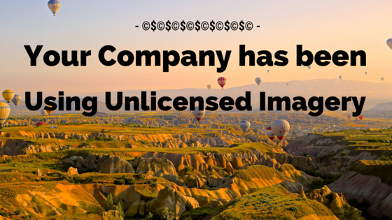 Your Company has been Using Unlicensed Copyright Images