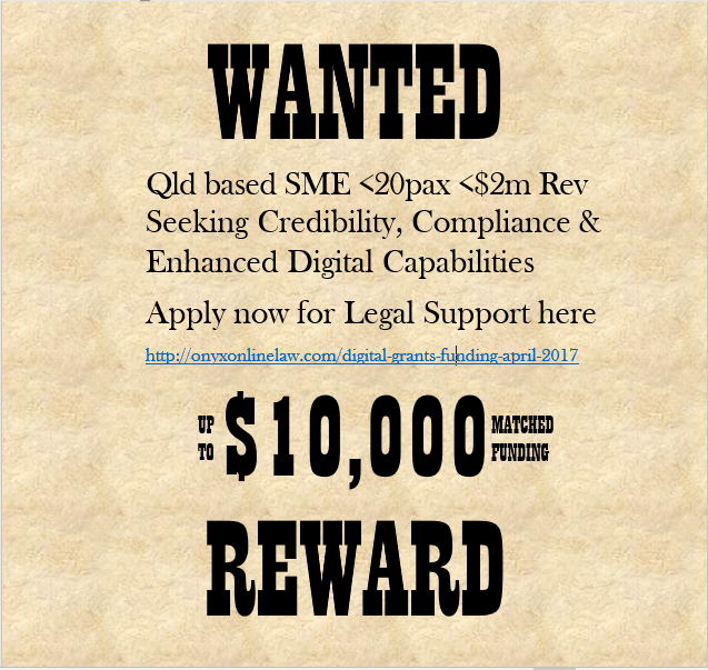 Wanted $10,000 Government Funding for legal services